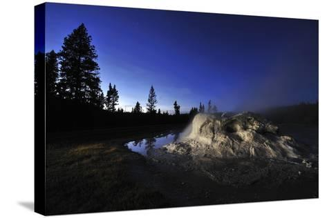 The Midway Geyser Basin at Night, under the Big Dipper, Yellowstone National Park, Wyoming-Keith Ladzinski-Stretched Canvas Print