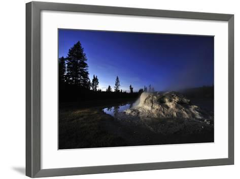 The Midway Geyser Basin at Night, under the Big Dipper, Yellowstone National Park, Wyoming-Keith Ladzinski-Framed Art Print