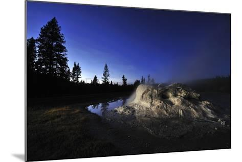 The Midway Geyser Basin at Night, under the Big Dipper, Yellowstone National Park, Wyoming-Keith Ladzinski-Mounted Photographic Print