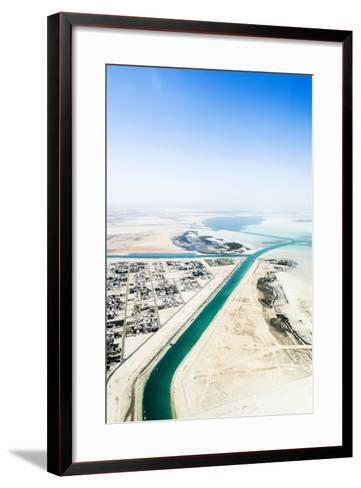Manmade Turquoise Channels Lead from the Ocean to Suburban Residential Estates and Homes-Jason Edwards-Framed Art Print