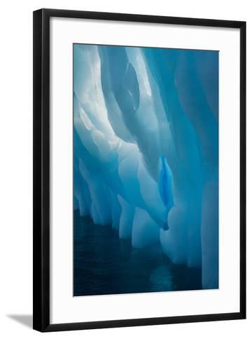 Abstract View of Ice Lit from Outside-Tom Murphy-Framed Art Print
