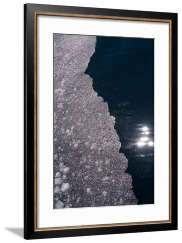 An Abstract Detail of an Iceberg-Tom Murphy-Framed Art Print