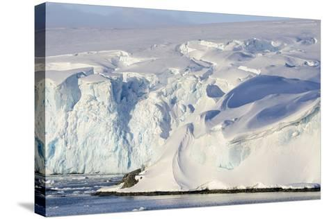 Glacier Next to the American Research and Science Base of Palmer Station on Anvers Island-Rich Reid-Stretched Canvas Print