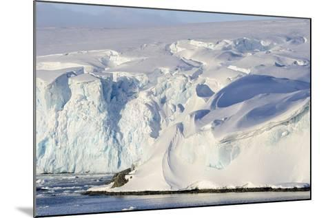 Glacier Next to the American Research and Science Base of Palmer Station on Anvers Island-Rich Reid-Mounted Photographic Print