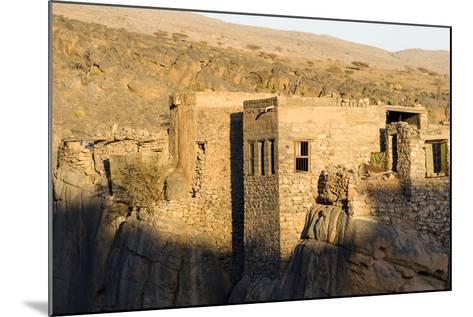 Sunset Touches the Walls of an Ancient Mud Brick Village on a Desert Gorge Mountainside-Jason Edwards-Mounted Photographic Print