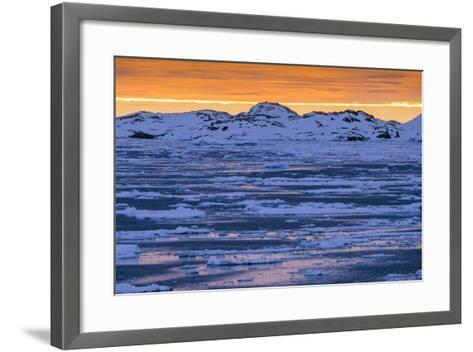 Sunset over Lemaire Channel on the Antarctic Peninsula-Rich Reid-Framed Art Print