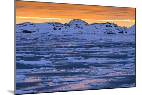 Sunset over Lemaire Channel on the Antarctic Peninsula-Rich Reid-Mounted Photographic Print