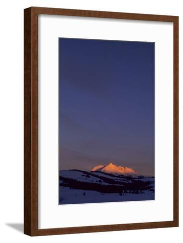 Distant View of Snow-Covered Electric Peak-Tom Murphy-Framed Art Print