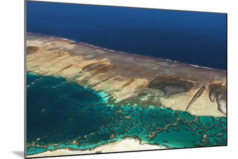 Aerial View of the Fringing Reef and the Inside Lagoon of Millennium Atoll-Mauricio Handler-Mounted Photographic Print