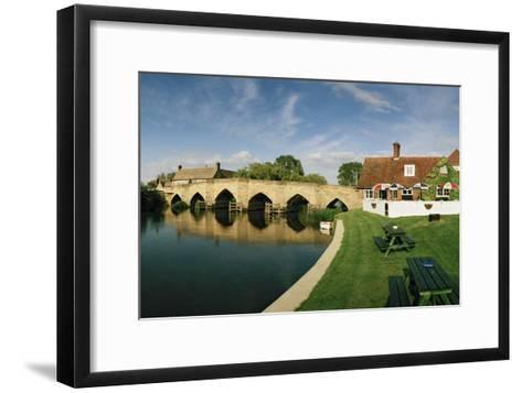 Newbridge, a 14th Century Stone Bridge, over the Thames River-Macduff Everton-Framed Art Print