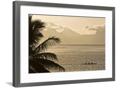 The Island of Mo'Orea as Seen from Tahiti-Mauricio Handler-Framed Art Print