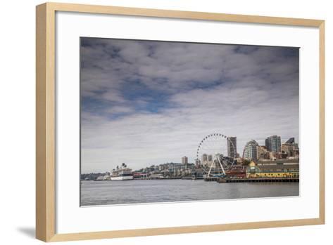 The Seattle Skyline on a Sunny Day-Michael Hanson-Framed Art Print