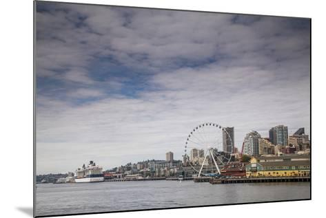 The Seattle Skyline on a Sunny Day-Michael Hanson-Mounted Photographic Print