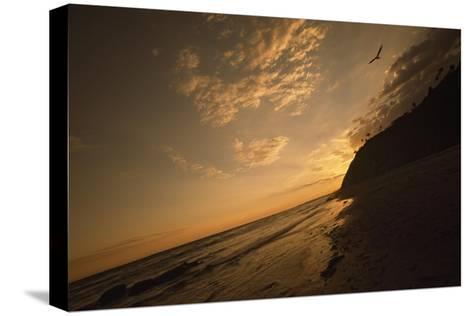 Sunset at Arroyo Burro Beach-Macduff Everton-Stretched Canvas Print