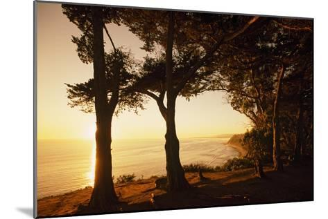 Sunset from Cliffs Above the Pacific Ocean at the Douglas Family Preserve-Macduff Everton-Mounted Photographic Print