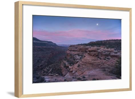 Sunrise at Bedrock Canyon Below Powell Plateau and the North Rim of Grand Canyon National Park-Bill Hatcher-Framed Art Print