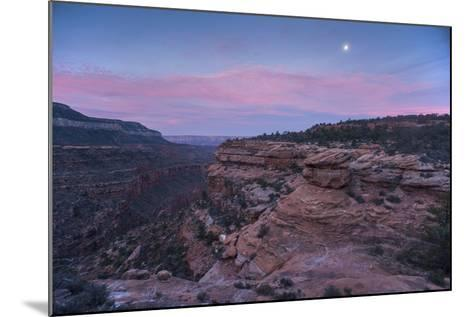 Sunrise at Bedrock Canyon Below Powell Plateau and the North Rim of Grand Canyon National Park-Bill Hatcher-Mounted Photographic Print