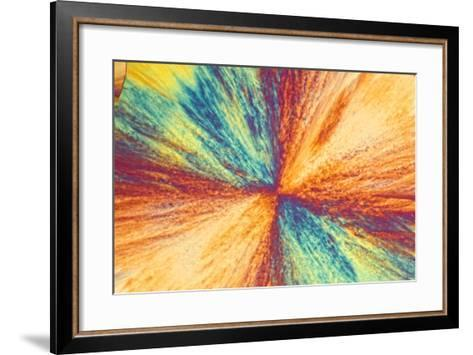 A Photomicrograph, a Picture Taken Through a Microscope, of Cholesterol Acetate-Cesare Naldi-Framed Art Print