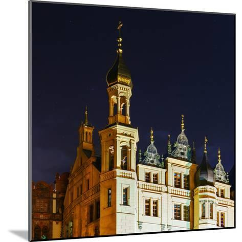 The Historic Schwerin Palace at Night-Babak Tafreshi-Mounted Photographic Print