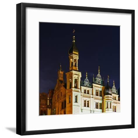 The Historic Schwerin Palace at Night-Babak Tafreshi-Framed Art Print