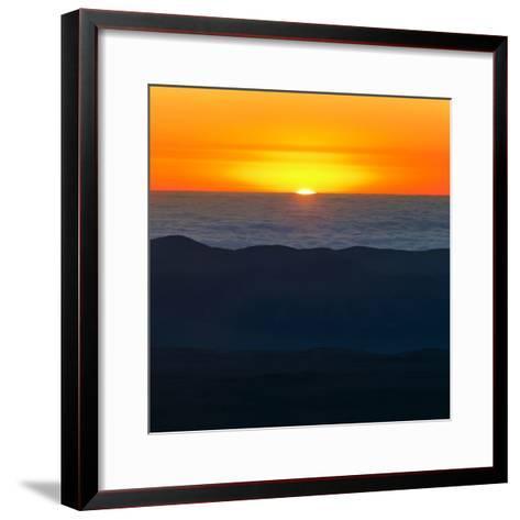 The Sun Sets over the Pacific Ocean and the Atacama Desert-Babak Tafreshi-Framed Art Print