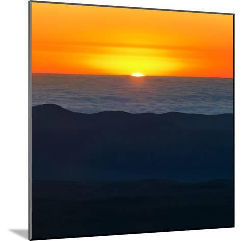 The Sun Sets over the Pacific Ocean and the Atacama Desert-Babak Tafreshi-Mounted Photographic Print