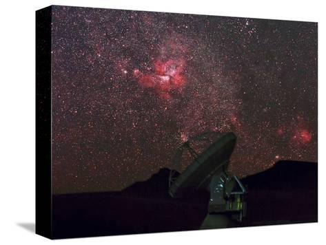 An Alma Telescope Photographed with a Special Deep Sky Filter to Reveal the Nebulosity in the Sky-Babak Tafreshi-Stretched Canvas Print