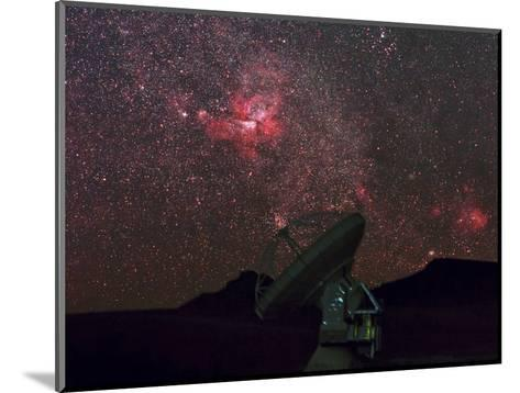 An Alma Telescope Photographed with a Special Deep Sky Filter to Reveal the Nebulosity in the Sky-Babak Tafreshi-Mounted Photographic Print