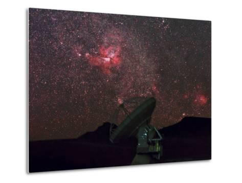 An Alma Telescope Photographed with a Special Deep Sky Filter to Reveal the Nebulosity in the Sky-Babak Tafreshi-Metal Print
