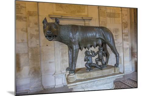 A Statue of Romulus and Remus with the She Wolf at the Capitoline Museum-Will Van Overbeek-Mounted Photographic Print