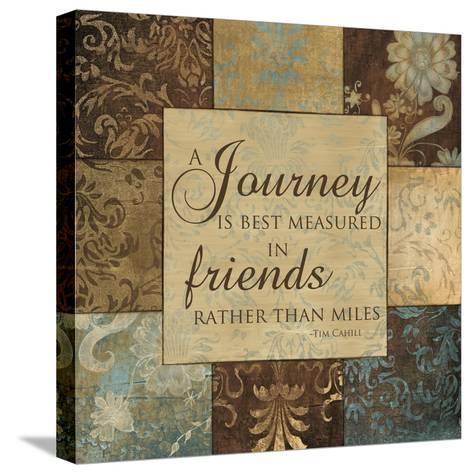 Journey Is Best Measured-Artique Studio-Stretched Canvas Print