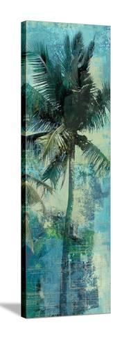 Teal Palm Triptych II-Eric Yang-Stretched Canvas Print