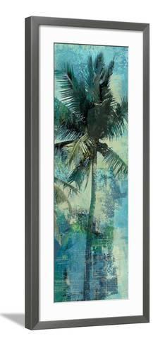 Teal Palm Triptych II-Eric Yang-Framed Art Print