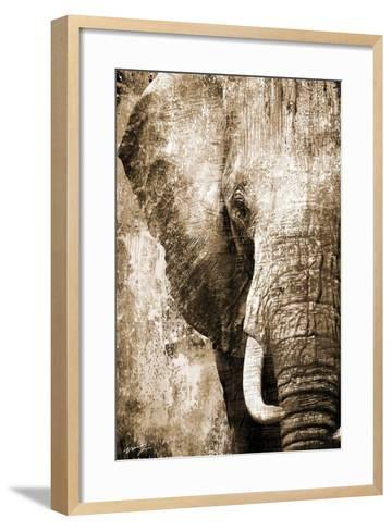 African Animals I - Sepia-Eric Yang-Framed Art Print