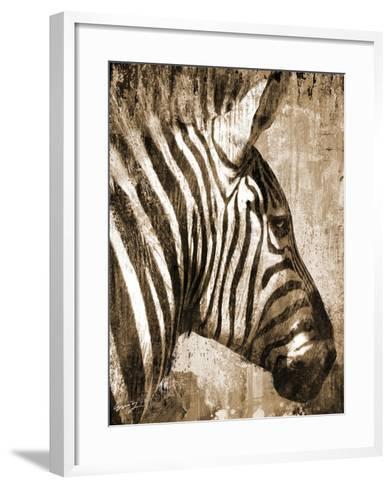 African Animals II - Sepia-Eric Yang-Framed Art Print