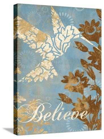Believe Silhouette-Piper Ballantyne-Stretched Canvas Print
