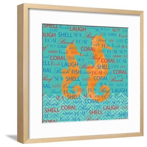 Swimming Seahorse-Piper Ballantyne-Framed Art Print