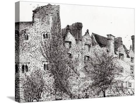 Castle Ruins at Hay on Wye, 2007-Vincent Alexander Booth-Stretched Canvas Print