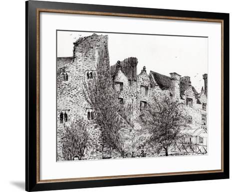 Castle Ruins at Hay on Wye, 2007-Vincent Alexander Booth-Framed Art Print