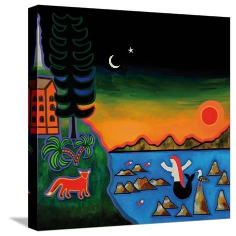 Dans Un Coucher De Soleil D'Automne En Corse, 2014-Cristina Rodriguez-Stretched Canvas Print
