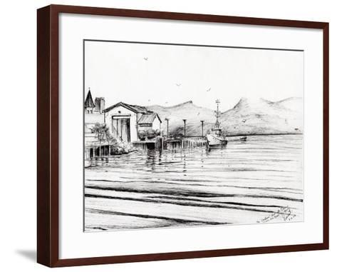 Customs Boat at Oban, 2007-Vincent Alexander Booth-Framed Art Print