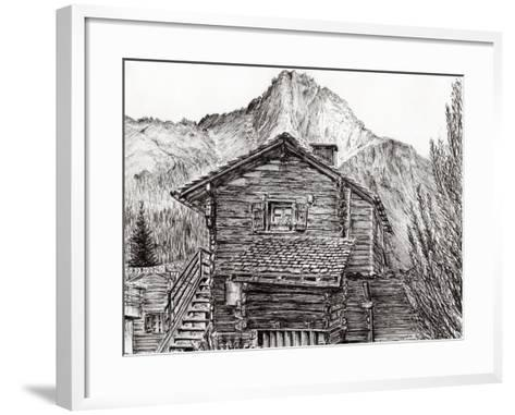 View from B&B Zinal, Switzerland, 2011-Vincent Alexander Booth-Framed Art Print