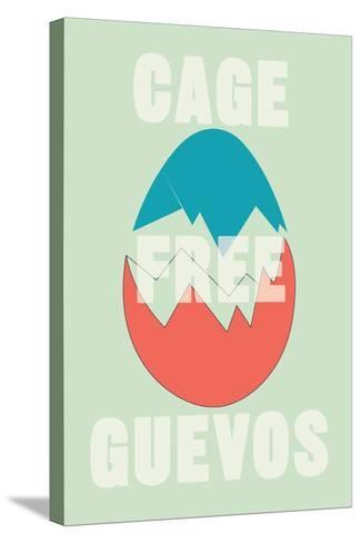Annimo Cage Free Guevos--Stretched Canvas Print