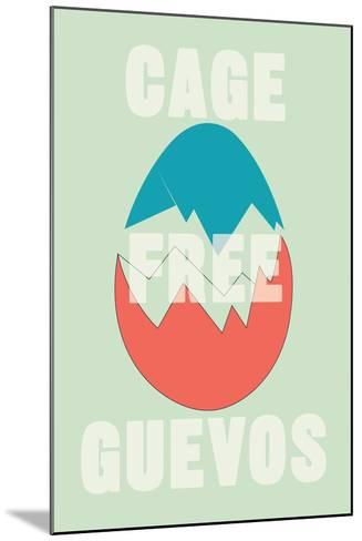 Annimo Cage Free Guevos--Mounted Art Print