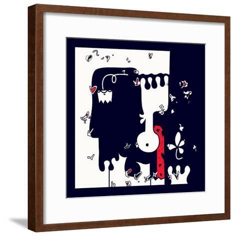 Annimo Down Here--Framed Art Print