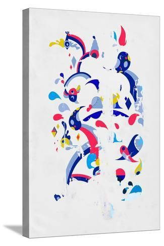 Monsters Off the Wall by Annimo--Stretched Canvas Print