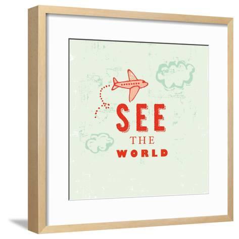 Let's Travel 6-Z Studio-Framed Art Print