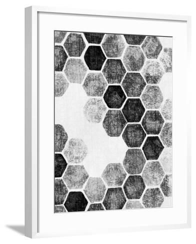 Natural Architecture 1 B&W-Edith Lentz-Framed Art Print