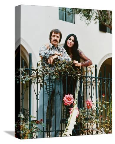 Sonny and Cher--Stretched Canvas Print