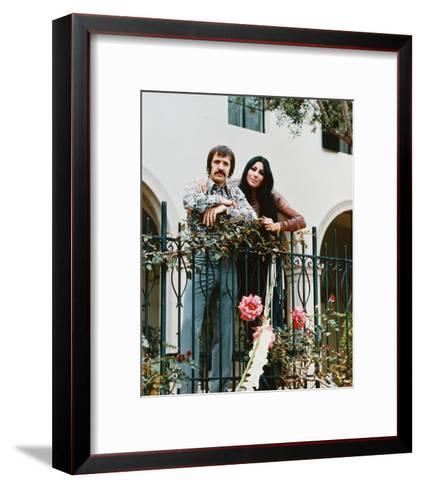 Sonny and Cher--Framed Art Print